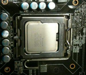 Wyczyszczony procesor na podstawce LGA775