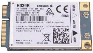 modem WWAN 5540 H039R Ericson Aero2 GPS