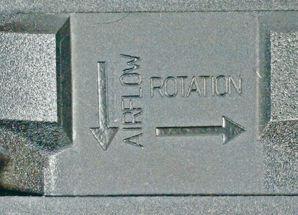 Wentylator Strzalki Rotacji