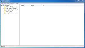 RegEdit - okno edytora rejestru