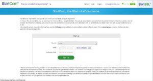 StartSSL Front Site SignUP
