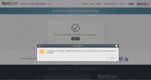 StartSSL Zainstalowano Certyfikat